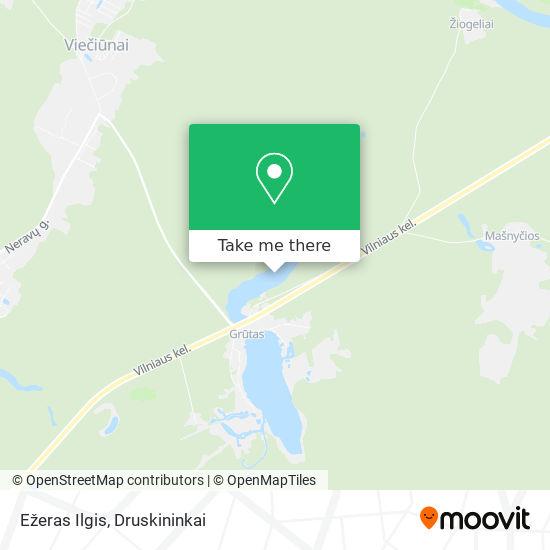 Ežeras Ilgis map