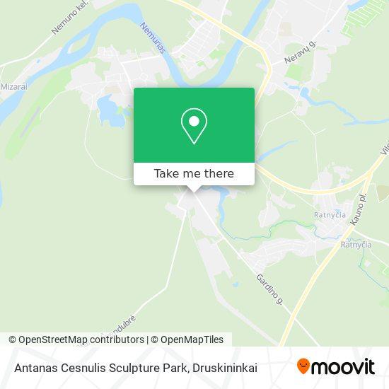 Antanas Cesnulis Sculpture Park map
