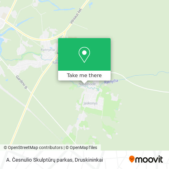 A. Česnulio Skulptūrų parkas map