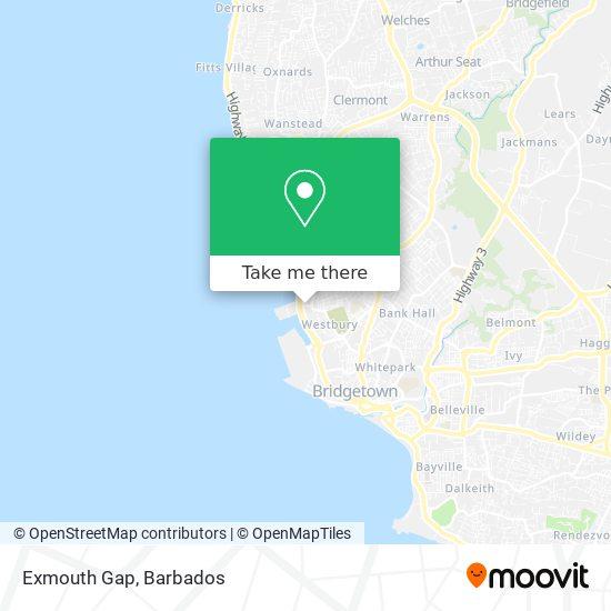 Exmouth Gap map