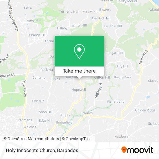 Holy Innocents Church map
