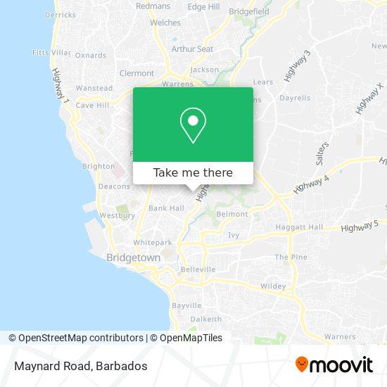 Maynard Road map