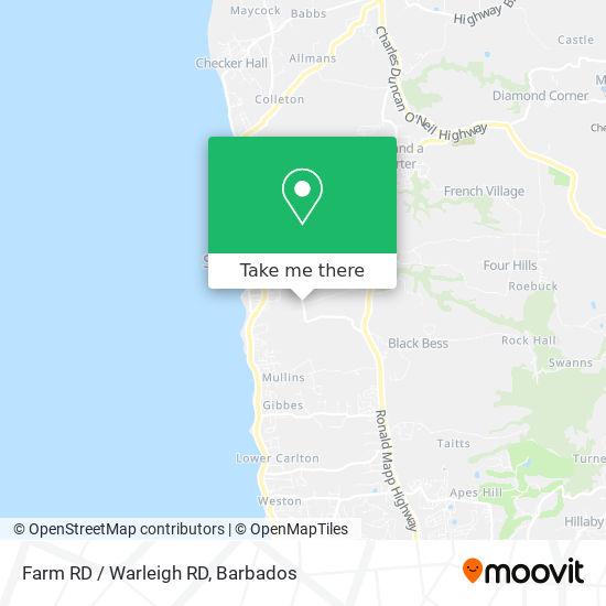 Farm RD / Warleigh RD map