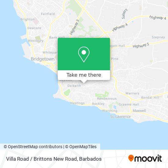 Villa Road / Brittons New Road map