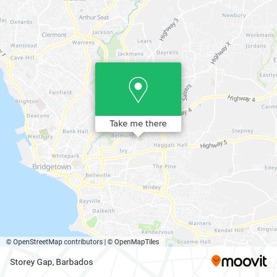 Storey Gap map