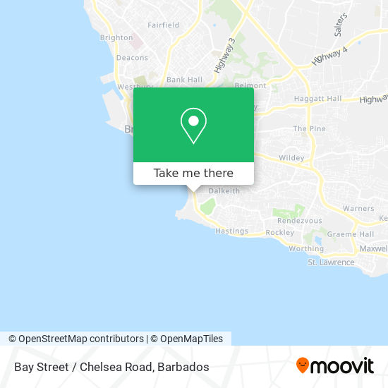 Bay Street / Chelsea Road map