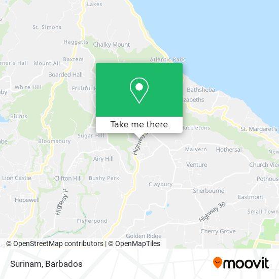 Surinam map