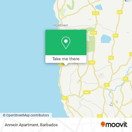Annwin Apartment map