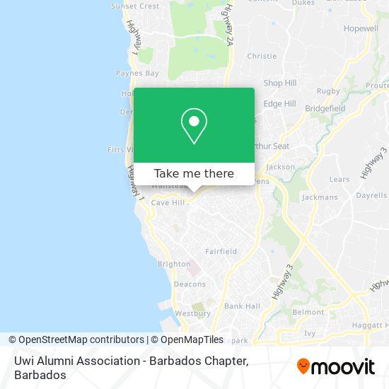 Uwi Alumni Association - Barbados Chapter map