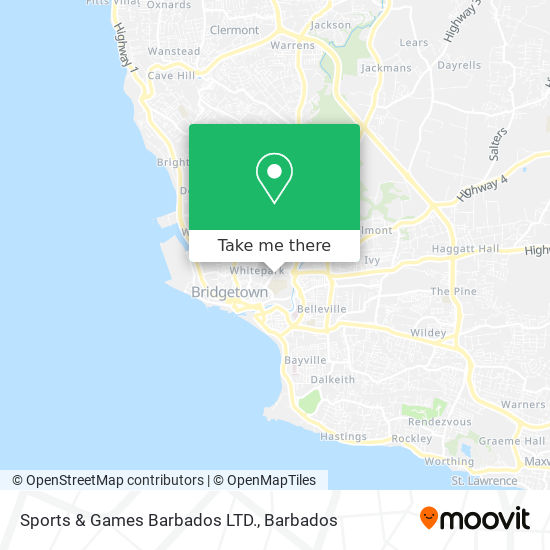 Sports & Games Barbados LTD. map