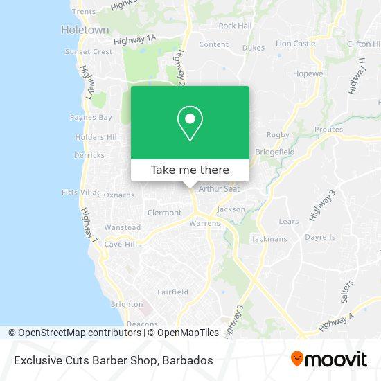 Exclusive Cuts Barber Shop map