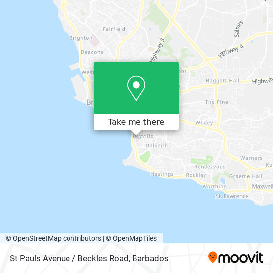 St Pauls Avenue / Beckles Road map