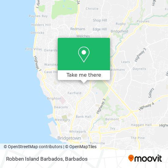 Robben Island Barbados map