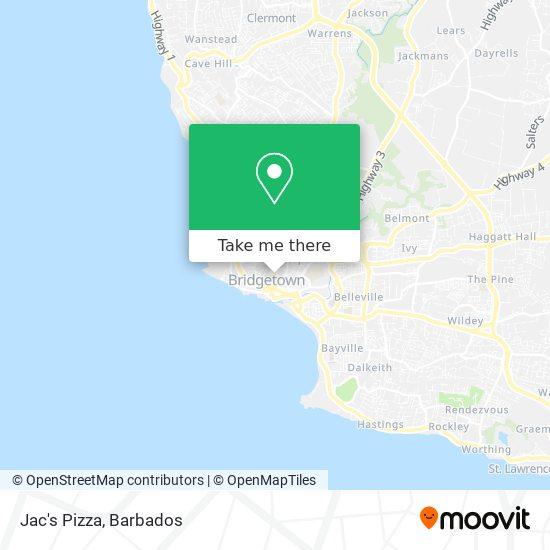 Jac's Pizza map
