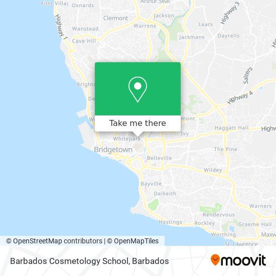 Barbados Cosmetology School map