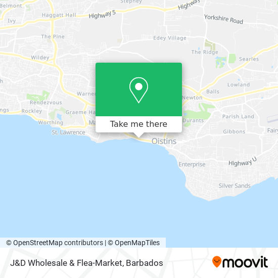 J&D Wholesale & Flea-Market map
