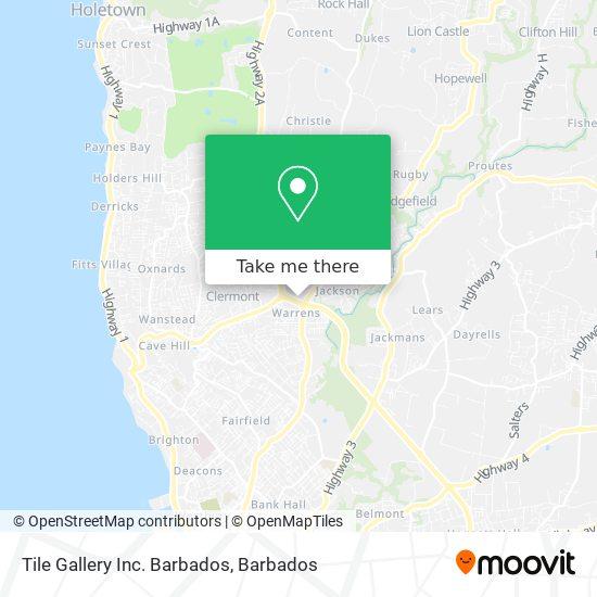 Tile Gallery Inc. Barbados map