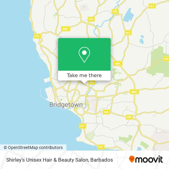 Shirley's Unisex Hair & Beauty Salon map