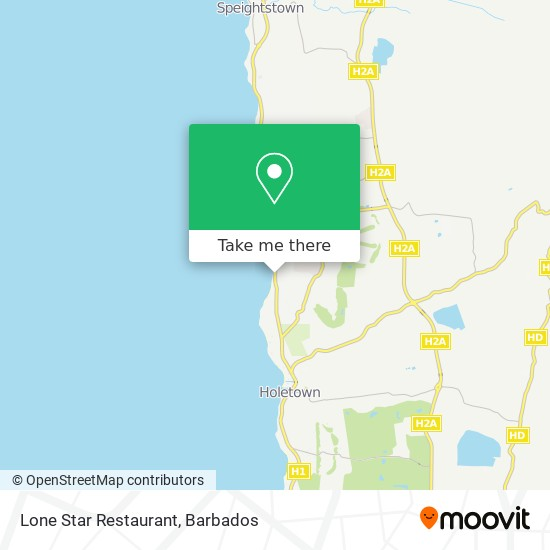 Lone Star Restaurant map