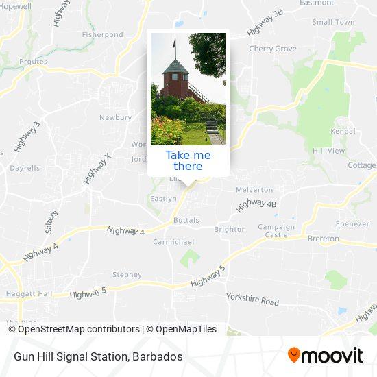 Gun Hill Signal Station map