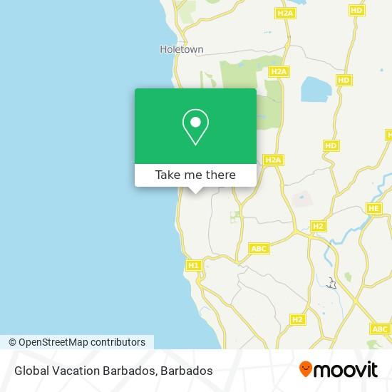 Global Vacation Barbados map