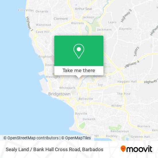 Sealy Land / Bank Hall Cross Road map