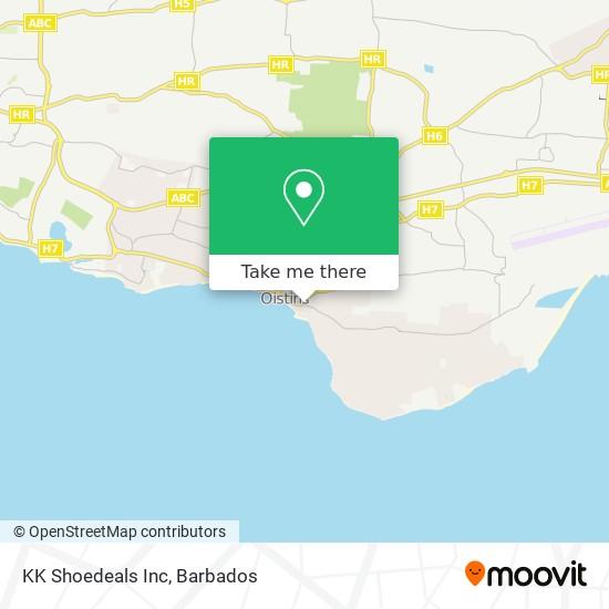 KK Shoedeals Inc map
