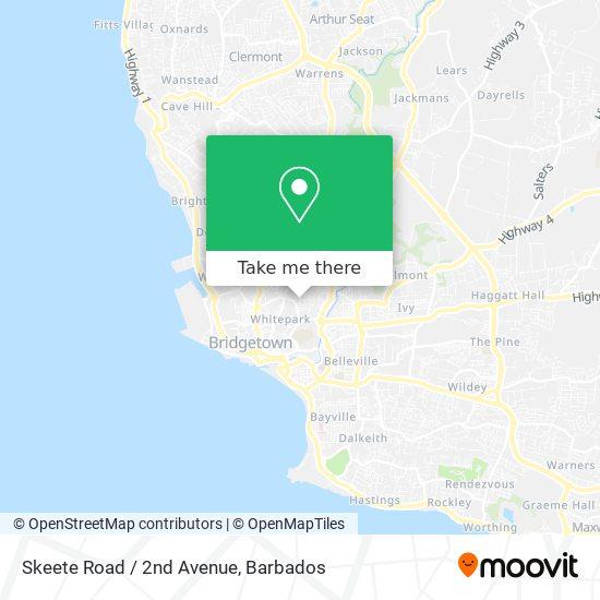Skeete Road / 2nd Avenue map