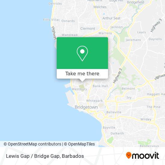 Lewis Gap / Bridge Gap map