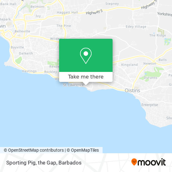 Sporting Pig, the Gap map