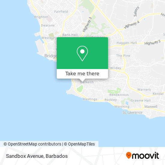Sandbox Avenue map