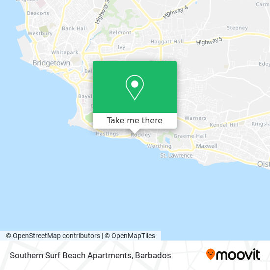 Southern Surf Beach Apartments map