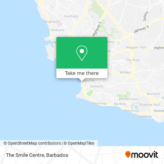 The Smile Centre map