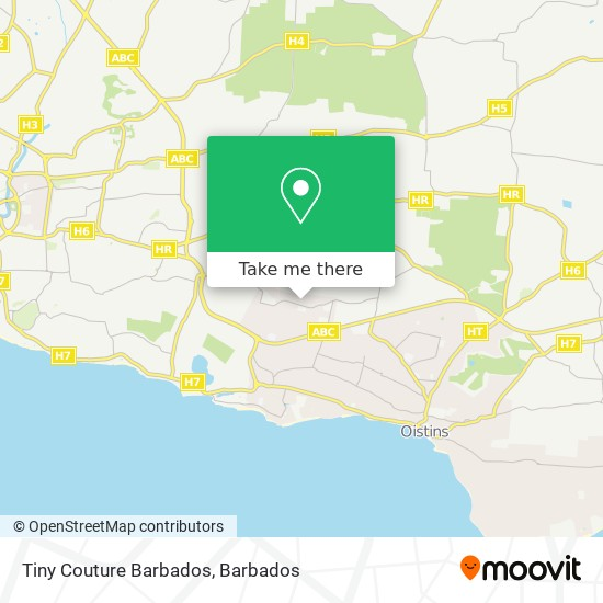 Tiny Couture Barbados map