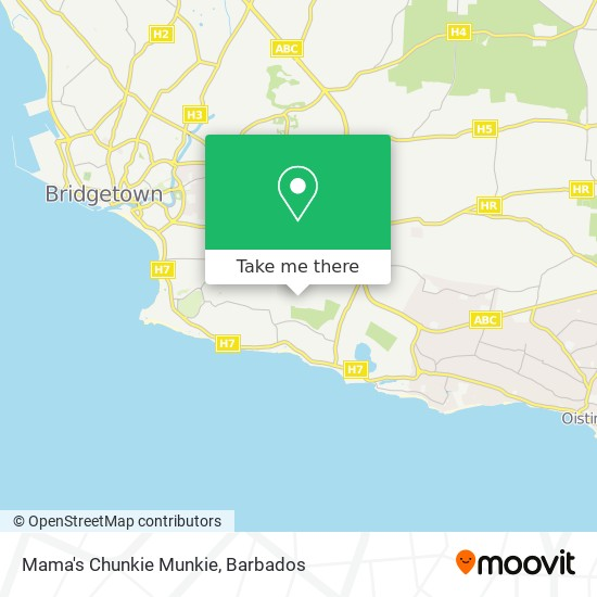 Mama's Chunkie Munkie map