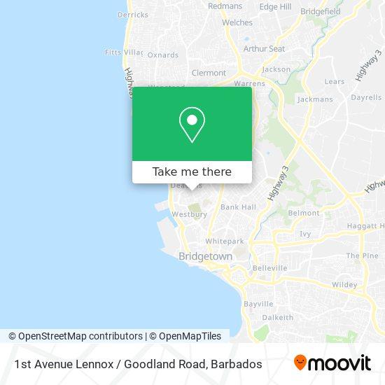 1st Avenue Lennox / Goodland Road map