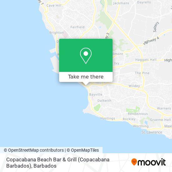 Copacabana Beach Bar & Grill (Copacabana Barbados) map