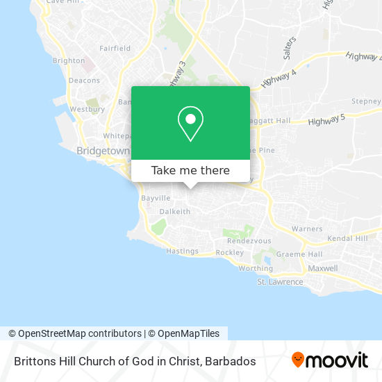 Brittons Hill Church of God in Christ map