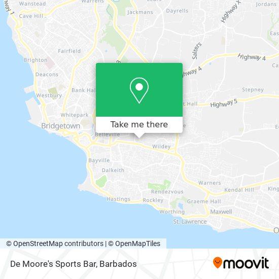 De Moore's Sports Bar map