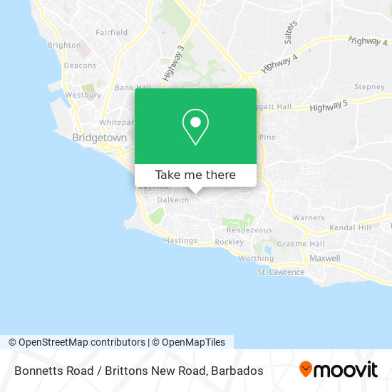 Bonnetts Road / Brittons New Road map