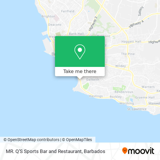 MR. Q'S Sports Bar and Restaurant map