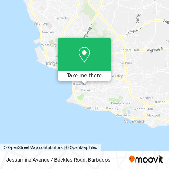 Jessamine Avenue / Beckles Road map