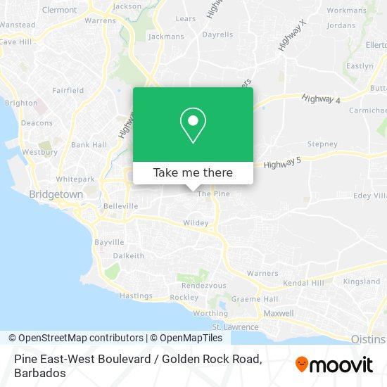 Pine East-West Boulevard / Golden Rock Road map