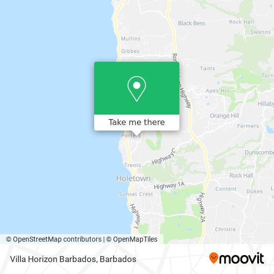 Villa Horizon Barbados map