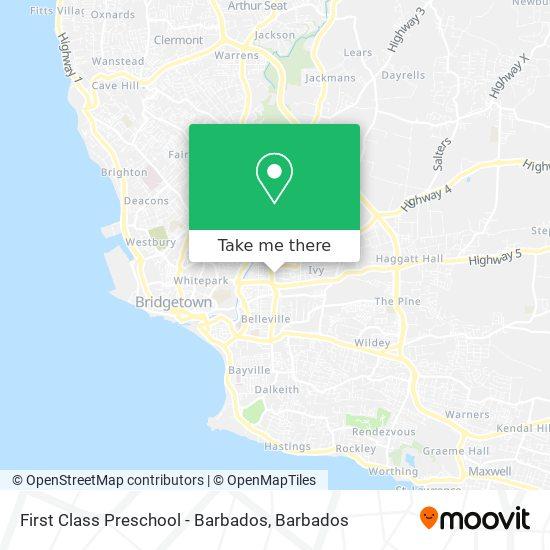 First Class Preschool - Barbados map