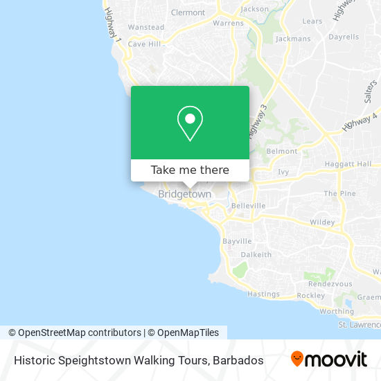 Historic Speightstown Walking Tours map