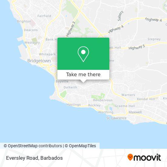 Eversley Road map