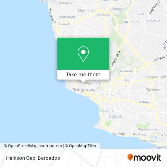 Hinkson Gap map