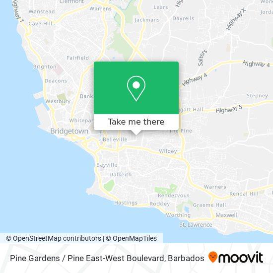 Pine Gardens / Pine East-West Boulevard map