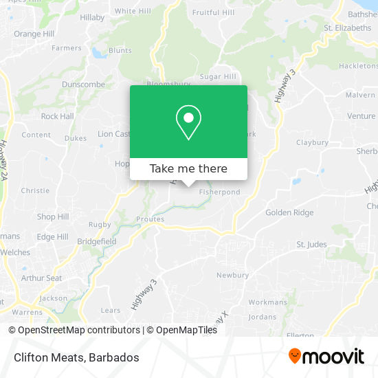 Clifton Meats map
